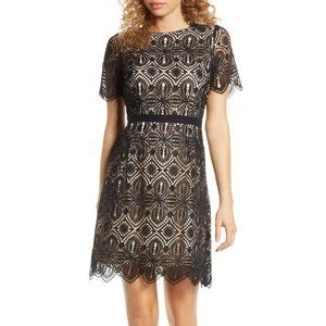 Chelsea28 Embroidered Lace A-Line Dress